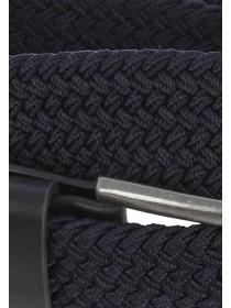 Mens Navy Stretch Plait Belt