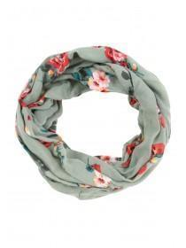 Womens Green Floral Snood