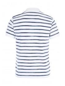 Mens Blue Stripe Polo Shirt