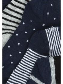 Boys 5pk Navy Trainer Socks