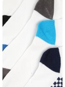 Boys 5pk White Trainer Socks