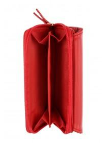 Womens Red Flip and Zip Purse