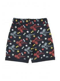 Younger Boys Navy Dinosaur Shorts