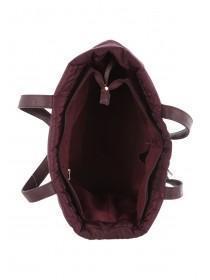 Womens Burgundy Padded Tote Bag