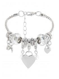 Womens Silver Cluster Bracelet