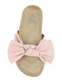 Older Girls Pink Bow Sandals