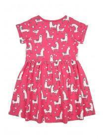 Younger Girls Pink Llama Dress