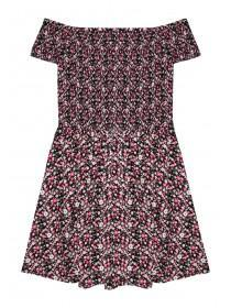 Older Girls Sheared Floral Dress