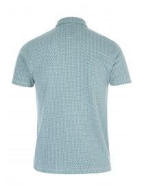 Mens Mint Geometric Polo Shirt