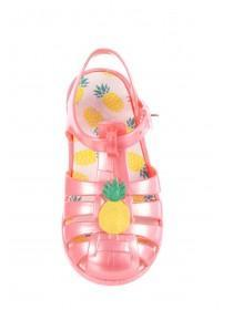Younger Girls Pink Pineapple Jelly Sandals