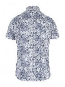 Mens Blue Tile Shirt