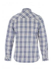 Mens Blue and White Check Flannel Shirt