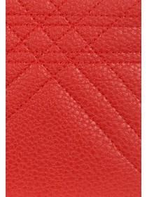 Womens Red Card Holder Purse