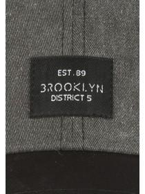 Mens Grey Washed Slogan Cap