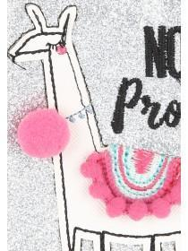 Womens Pink No Probllama Purse