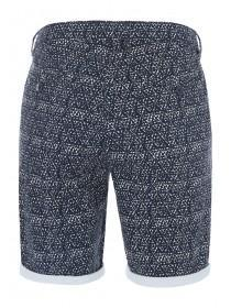 Mens Navy Tile Chino Shorts