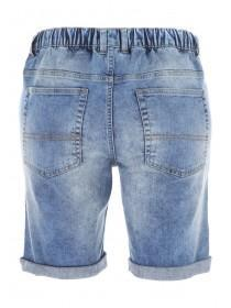 Mens Blue Denim Draw Cord Shorts
