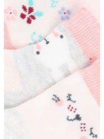 Baby Girls 3pk Pink Socks