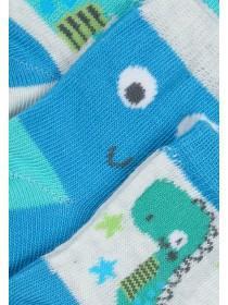 Baby Boys 3pk Blue Dinosaur Socks