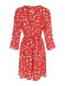 Womens Red Floral Dress