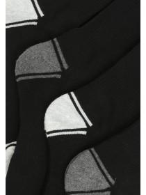 Mens 4pk Black Sports Socks