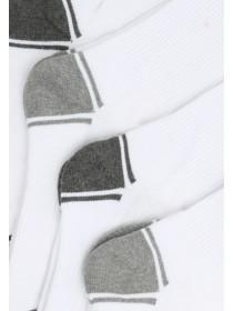Mens 4pk White Sports Socks