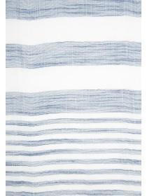 Womens Blue Stripe Scarf