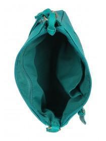 Womens Emerald Green Across Body Bag