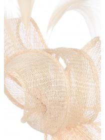 Womens Nude Feather Fascinator Hairband