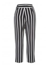 Womens Stripy Slim Leg Belted Trousers