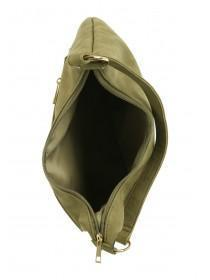 Womens Khaki Pocket Shoulder Bag