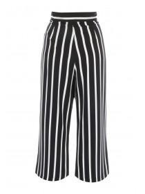 Womens Monochrome Stripe Culottes