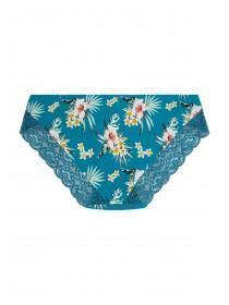 Womens Blue Tropical Lace Back Briefs