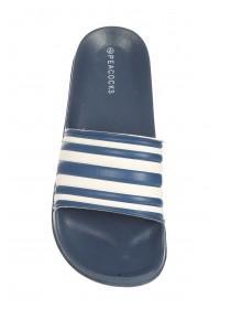 Mens Navy Stripe Slider Sandals