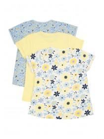 Baby Girls 3pk Floral T-Shirts