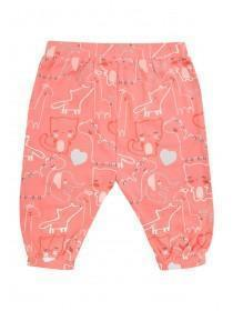 Baby Girls Pink Animal Harem Trousers