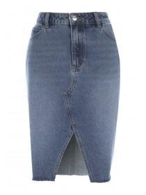 Womens Denim 365 Blue Split Front Skirt