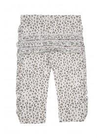 Baby Girls Grey Leopard Print Leggings