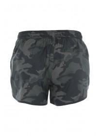 Mens Dark Green Camo Swim Shorts