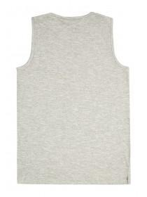 Older Boys Grey Slogan Vest Top