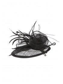 Womens Black Clip Fascinator