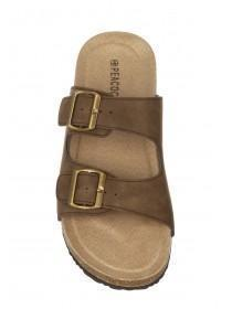 Mens Brown Buckle Sandals