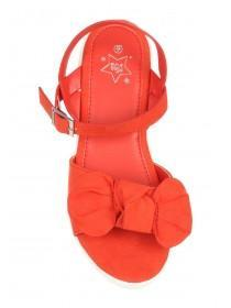 Older Girls Red Knot Sandals