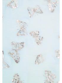 Womens Blue Butterfly Scarf