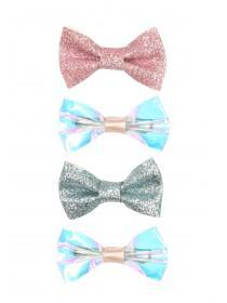 Girls 4pk Iridescent Bow Hairclips