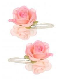 Girls 2pk Pink Flower Hairclips