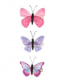 Girls 3pk Butterfly Hairclips