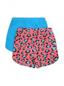 Younger Girls 2pk Leopard Print Shorts