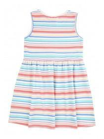Younger Girls Multicolour Stripe Dress