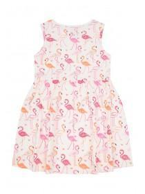 Younger Girls Pink Flamingo Dress